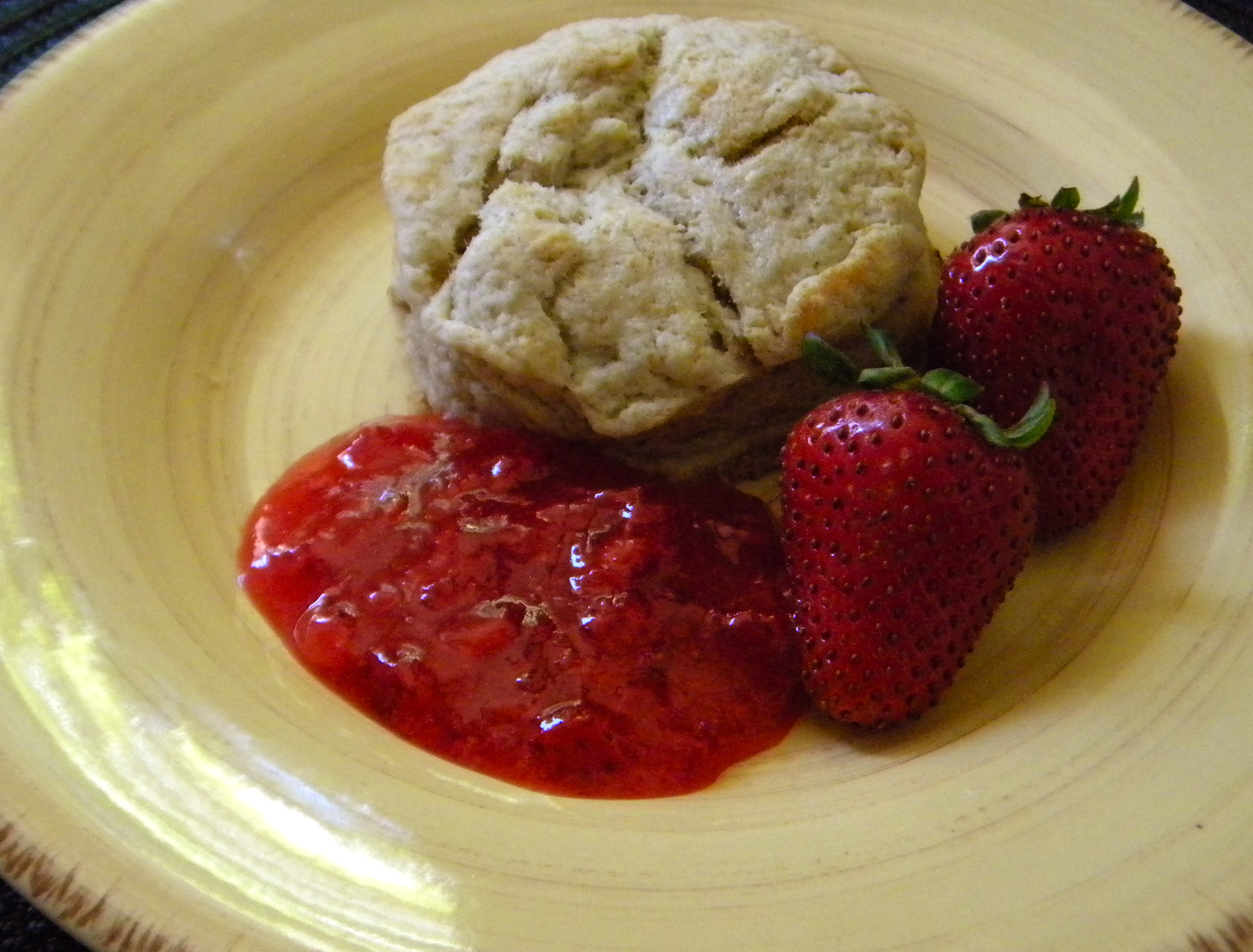 Homemade Buttermilk Biscuits with Strawberry Freezer Jam ...