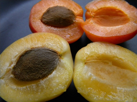 sliced white apricots