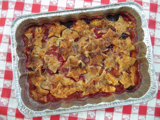Berry and Peach Cobbler