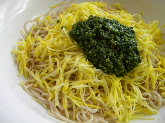 pasta, squash & pesto